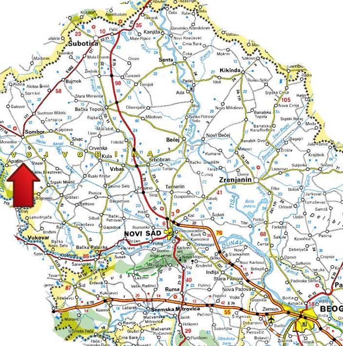 banje u srbiji mapa Mapa | Banja Junaković banje u srbiji mapa
